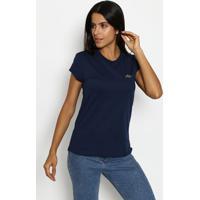 87ace2bf78 Camiseta Com Recortes- Azul Marinho   Prateadaclub Polo Collection