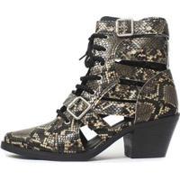 Bota Gladiadora Damannu Shoes Jennie Feminina - Feminino-Marrom