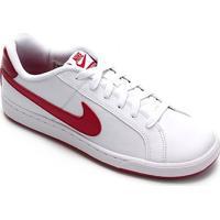 Tênis Couro Nike Court Royale Feminino - Feminino-Branco+Pink