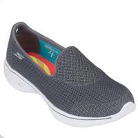 Tênis Skechers Go Walk 4 Propel Feminino - Feminino-Chumbo+Branco