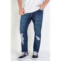 Calça Skinny Jeans Eventual Com Destroyed
