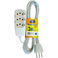 Extensão Elétrica Sort 3M 3 Tomadas 2P T 10A 250V Dn 1779 Daneva
