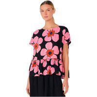 Blusa Hering Estampada Em Tecido Texturizado Mini Me Rosa
