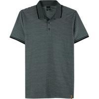 Camisa Chumbo Polo Slim Listrada