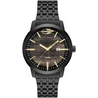 Relógio Mormaii Wood Feminino - Feminino-Preto
