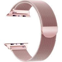 Pulseira Bestchoice Milanese Para Apple Watch 42Mm / 44Mm Rose