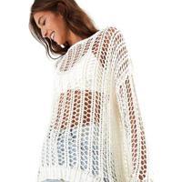 Casaco Farm Pull Tricot Fitado - Feminino-Off White