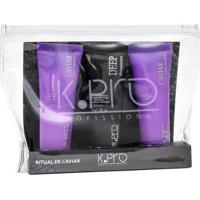 K-Pro Ritual De Caviar 1 Shampoo 45Ml + 1 Deep Reconstrutor 45G + 1 Condicionador 45G - Unissex-Incolor
