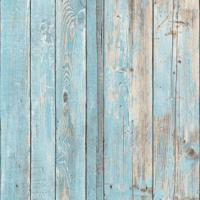 Papel De Parede Madeira- Azul & Bege Claro- 1000X105Shark Metais