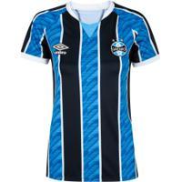 Camisa Do Grêmio I 2020 Umbro - Feminina - Azul/Preto
