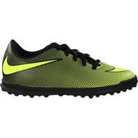 Chuteira Society Infantil Nike Bravatax Tf Amarelo/Preto - 31