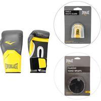 d148b7100 Netshoes  Kit Luva De Boxe Muay Thai - 12 Oz + Bandagem 2.74 M + Protetor