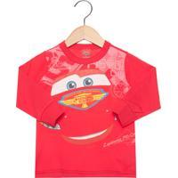 Blusa Malwee Carros Infantil Vermelha