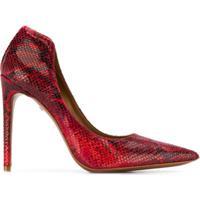 Just Cavalli Sapato Com Efeito Pele De Cobra - Vermelho