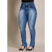 Calça Jeans Cintura Alta Quintess Plus Size