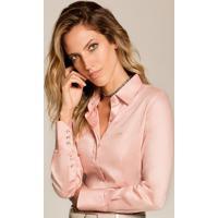 Camisa Social Rosê Personalizada