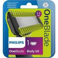 Lâmina Para Barbeador Elétrico Philips One Blade - 2 Unidades - Unissex-Verde+Cinza