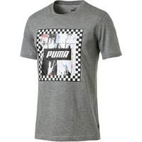 Camiseta Puma Check Graphic Masculina - Masculino-Cinza