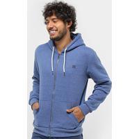 Blusa Moletom Gajang Com Capuz Masculina - Masculino-Azul