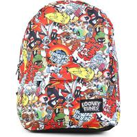 Mochila Infantil Escolar Xeryus Looney Tunes - Feminino-Vermelho