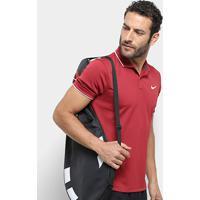 Camisa Polo Nike Dry Team Masculina - Masculino-Vermelho+Branco