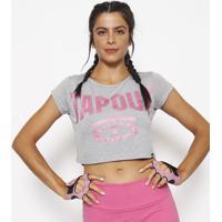 Blusa Cropped Tapout® - Cinza & Rosatapout