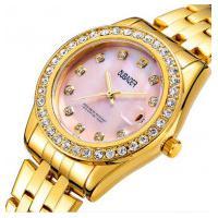 Relógio Feminino Oubaoer 6091La - Dourado E Rosa