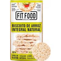 Biscoito De Arroz Integral Natural Fit Food 100G