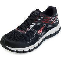 Tênis Running Glk Gl21-Mg5 Preto-Vermelho