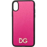 Dolce & Gabbana Capa Para Iphone X De Couro Com Logo - Rosa
