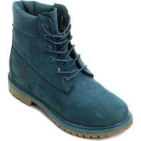 e27904a4a ... Bota Couro Cano Alto Timberland 6 Pol. Premium Feminina - Feminino-Azul  Petróleo