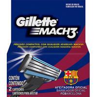 Carga Gillette Mach3 Com 02 Unidades