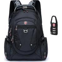 Mochila Swissport Notebook Audipocket 28L - Unissex-Preto