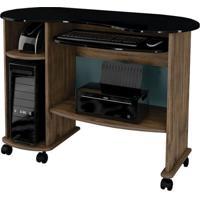 Mesa Para Computador Maresias Nobre E Preto