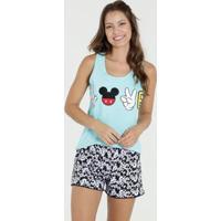Pijama Feminino Short Doll Estampa Mickey Disney