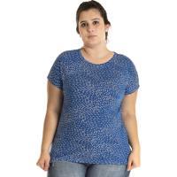 Blusa Konciny Viscose Plus Size Azul