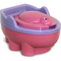 Penico Baby Style Troninho Redutor Tartaruga Rosa