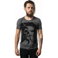 Camiseta Skull Lab Skull Girl Cinza