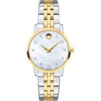 Relógio Movado Feminino Aço Prateado E Dourado - 0607208