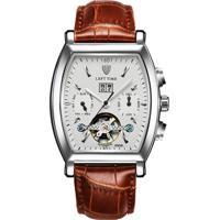 Relógio Tevise 8383B Masculino Automático Pulseira De Couro - Branco