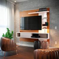 Painel Para Tv Até 55 Polegadas Atlântico Natura E Off White