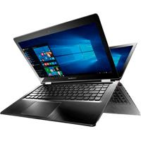 "Notebook Lenovo Yoga 500 80Ne000Gbr - Preto - Intel Core I5-5200U - Ram 4Gb - Hd 1Tb - Tela 14"" - Windows 10"