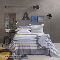 Jogo De Cama Home Design Queen Size- Cinza & Amarelosantista