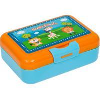 Porta Lanche Happy Friends- Azul & Laranja- 6X16X1Buba Toys