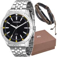 Kit Relógio Mondaine Masculino Com Pulseira 99144G0Mvne1K2