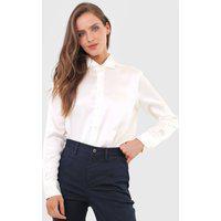 Camisa Seda Polo Ralph Lauren Lisa Off-White