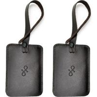 Kit 2 Tags De Mala De Couro Hendy Bag Masculino - Masculino