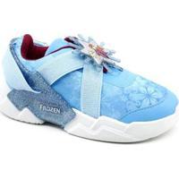 Tênis Infantil Frozen Grendene Feminino - Feminino-Azul