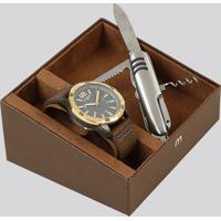 Kit De Relógio Analógico Mondaine Masculino + Canivete - 53633Gpmvjh1K Dourado - Único