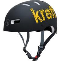 Capacete De Proteção Bicicleta Patins Skate Preto - Kraft